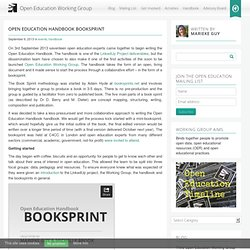 Open Education Handbook Booksprint