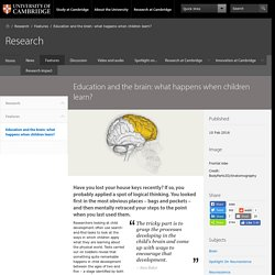 Education and the brain: what happens when children learn?
