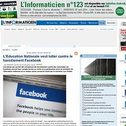 L'Education Nationale veut lutter contre le harcèlement Facebook