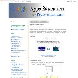 Google Apps Éducation : Histoire interactive