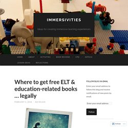 Where to get free ELT & education-related books … legally