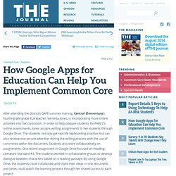 How Google Apps for Education Can Help You Implement Common Core