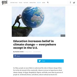 Education increases belief in climate change — everywhere except in the U.S.