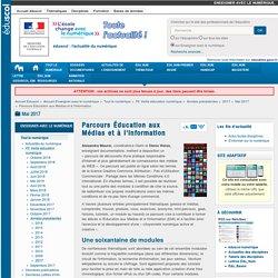 Parcours Éducation aux Médias et à l'Information — Enseigner avec le numérique