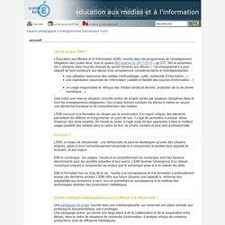 éducation aux médias et à l'information - accueil