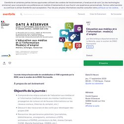 Education aux médias et à l'information : mode(s) d'emploi Billets, Le jeu 17 sept. 2020 à 08:30