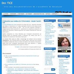 L'éducation aux médias et à l'information – dossier Savoirs CDI