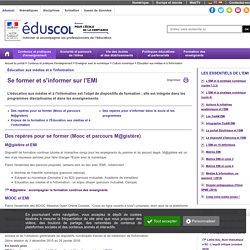 Éducation aux médias et à l'information - EMI et pratiques pédagogiques