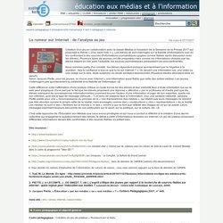 éducation aux médias et à l'information - La rumeur sur Internet : de l'analyse au jeu