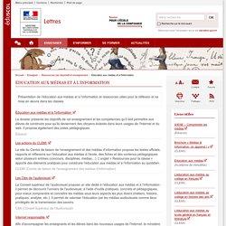 Éducation aux médias et à l'information-Lettres-Éduscol