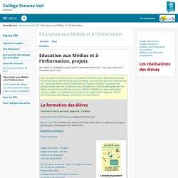 Education aux Médias et à l'Information, projets - Education aux Médias et à l'Information - Simone Veil de Saint Jory