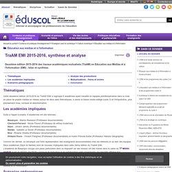 Éducation aux médias et à l'information - TraAM EMI 2015-2016, synthèse et analyse