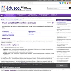 Tram 2016-2017 sur la visualisation de l'information