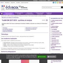 Éducation aux médias et à l'information - TraAM EMI 2017-2018 : synthèse et analyse