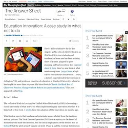 Education innovation: A case study in what not to do