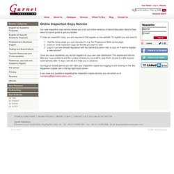 Garnet Education - Garnet Education's Online Inspection Copy Service