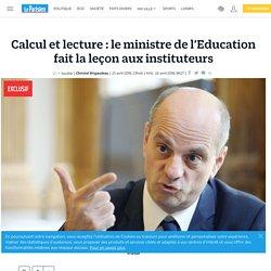 Calcul et lecture : le ministre de l'Education fait la leçon aux instituteurs