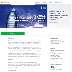 Global Education Interact (GEI) International in Dubai Hosted by The Chopras Tickets, Thu, Jan 19, 2017 at 10:00 AM
