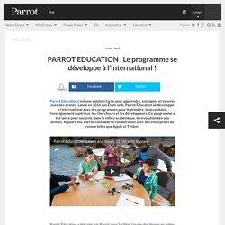 PARROT EDUCATION : Le programme se développe à l'international ! - Parrot news
