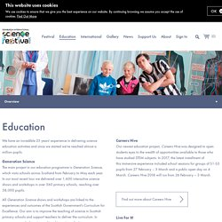 Education - Edinburgh International Science Festival