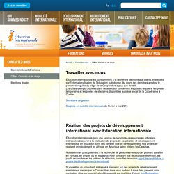 Éducation Internationale: Offres d'emploi