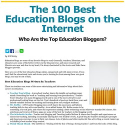 The 100 Best Education Blogs on the Internet - Bloggers