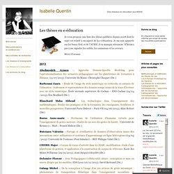 Les thèses en e-éducation
