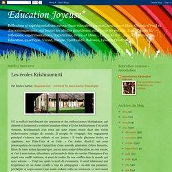 Les écoles Krishnamurti
