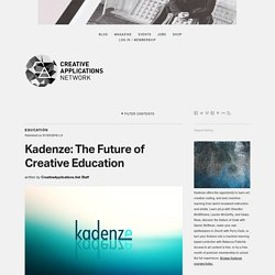 Kadenze: The Future of Creative Education / @KadenzeOfficial