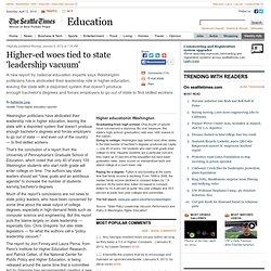 Higher-ed woes tied to state 'leadership vacuum'