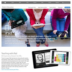 United Kingdom) - Education - iPad makes the perfect learning companion