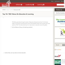 Top 10+ TED Videos On Education & Learning