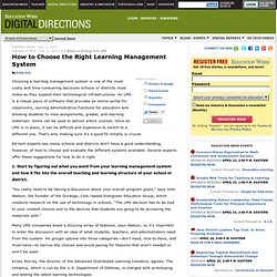How to Choose the Right Learning Management System