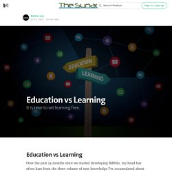 Education vs Learning — The Synapse