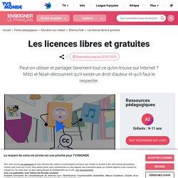Éducation aux médias et FLE - Droits d'auteur : parler des les licences libres et gratuites sur Internet