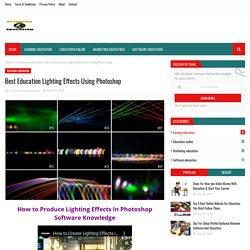 Best Education Lighting Effects Using Photoshop