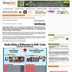Education : le livre fait toute la différence