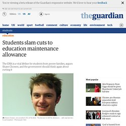 Students slam cuts to education maintenance allowance