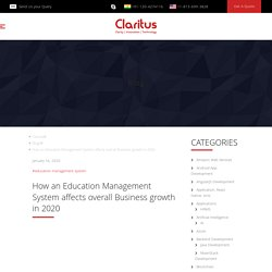 How an Education Management System affects overall Business growth in 2020