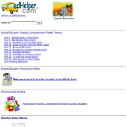 Special Education Materials for Teachers - Lesson Plans, Reading, and More