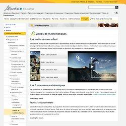 ALBERTA-Vidéos de mathématiques
