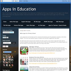Maths Apps for Primary School