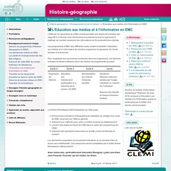 L'Education aux médias et à l'information en EMC