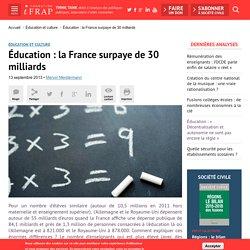 Éducation : la France surpaye de 30 milliards