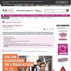 Salon européen de l'Éducation - Ministère de l'Éducation nationale et de la Jeunesse