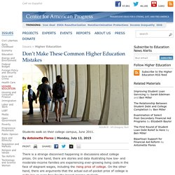 Don't Make These Common Higher Education Mistakes