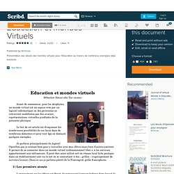 Education et Mondes Virtuels