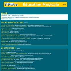 stepfan - éducation musicale, musique, chant à l'école primaire : sites de ressources, fiches ...