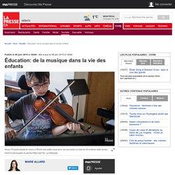 Éducation: de la musique dans la vie des enfants