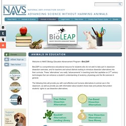 Animals in Education - National Anti-Vivisection Society